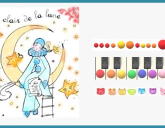 apprendre au piano au clair de la lune