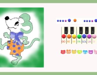 apprendre une souris verte au piano